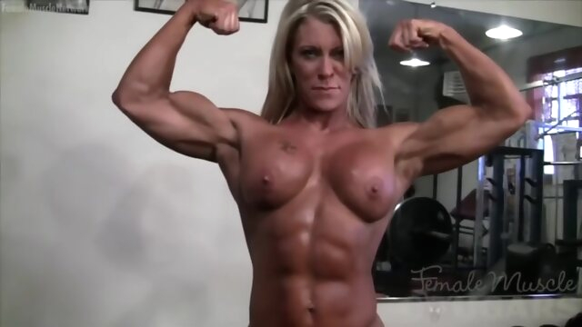 Muscle Woman amateur big tits blonde